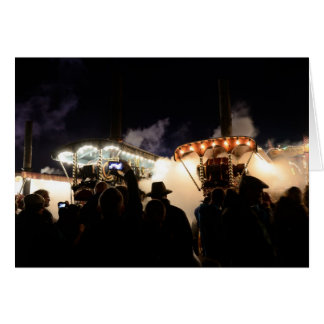 STEAM ENGINES AT THE GREAT DORSET STEAM FAIR GREETING CARD