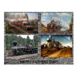 Steam Engines Fathers day card Postcard