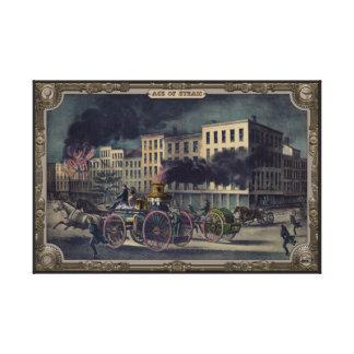 Steam fire engine. Age of Steam #012. Canvas Print