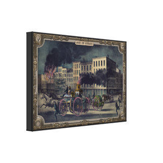 Steam fire engine. Age of Steam #012. Gallery Wrap Canvas