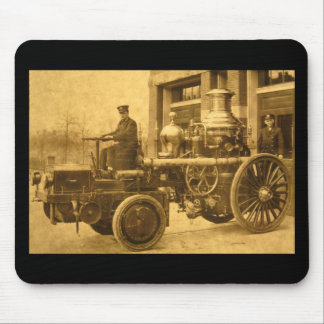 Steam Fire Engine Pumper Truck Mouse Pad