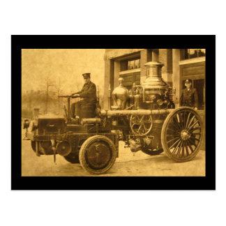 Steam Fire Engine Pumper Truck Vintage Postcard