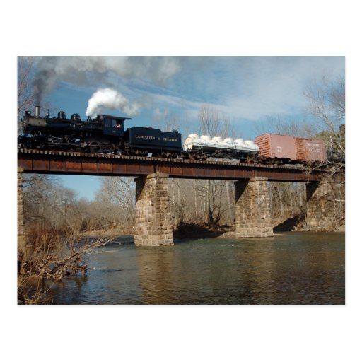 Steam Freight Trestle 1 Post Cards