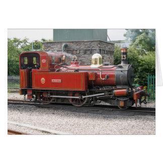 Steam locomotive at Port Erin Isle of Man Card