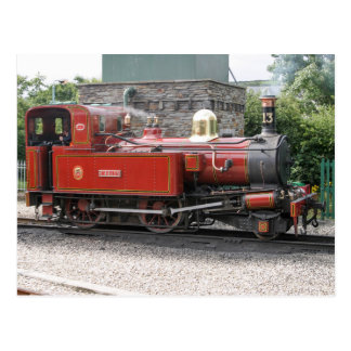 Steam locomotive at Port Erin Isle of Man Post Card