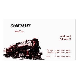 Steam Locomotive Business Card