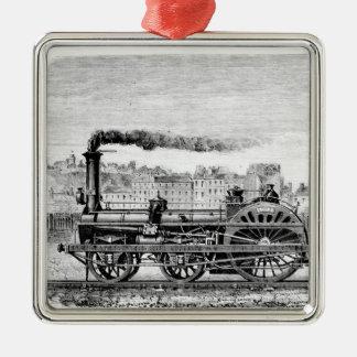 Steam locomotive christmas ornament
