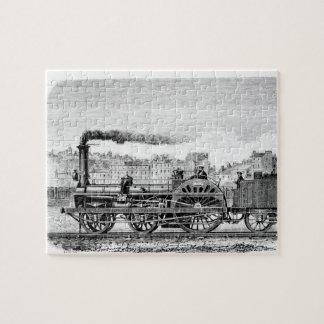 Steam locomotive jigsaw puzzle