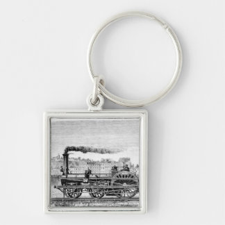 Steam locomotive key ring