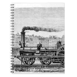 Steam locomotive notebook