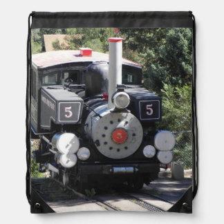 Steam Locomotive Pike's Peak Cog Railway Drawstring Backpacks