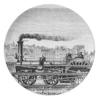 Steam locomotive plate