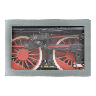Steam locomotive train wheel rectangular belt buckles