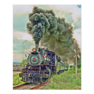 Steam Passenger Train Print