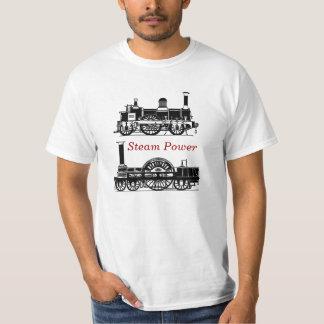 Steam Power - Steam Train Locomotives - Steampunk Shirt