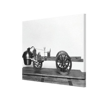 Steam-powered car invented canvas print