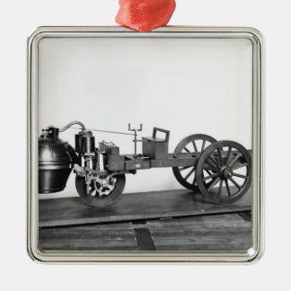 Steam-powered car invented christmas ornament