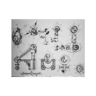 Steam-Punk: ClockWork BluePrints Canvas Print