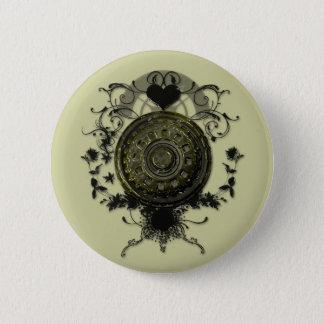 Steam punk Cog Design 6 Cm Round Badge