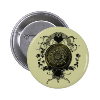 Steam punk Cog Design 6 Cm Round Badge