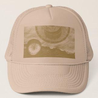 Steam punk compass Art Trucker Hat