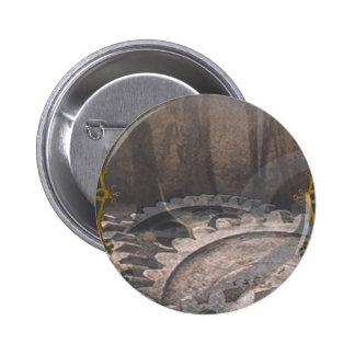 Steam Punk Forest 6 Cm Round Badge
