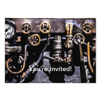 Steam Punk Gears and Gauges 13 Cm X 18 Cm Invitation Card