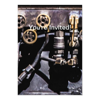 Steam Punk Gears and Gauges Personalized Invitation