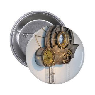Steam punk gears 6 cm round badge
