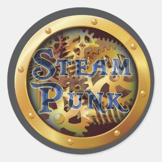 Steam Punk Genre Book Cover Round Sticker