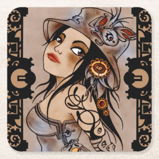 steam punk girl coaster