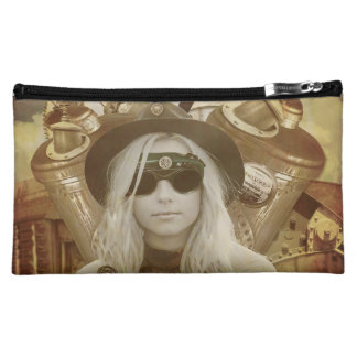 Steam Punk girl Make up Toiletries Bag