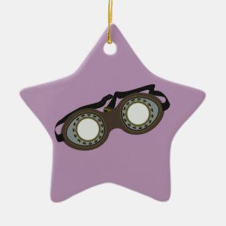Steam Punk Goggles Ceramic Star Decoration