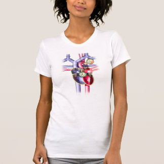 Steam Punk mechanical heart T Shirts