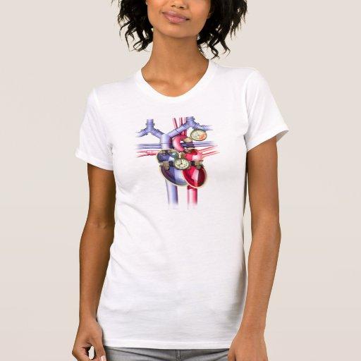 Steam Punk mechanical heart Tee Shirt