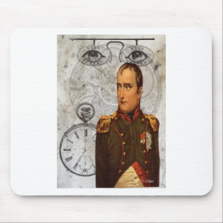 Steam Punk Military Man Eyes Gears Clock Mouse Pad