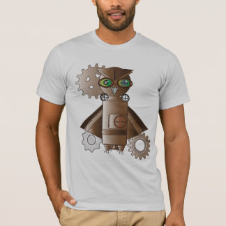 Steam Punk Robot Owl Shirt