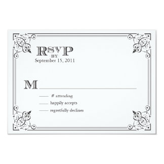 Steam Punk RSVP Card