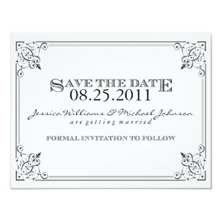 Steam Punk Save the Date Card