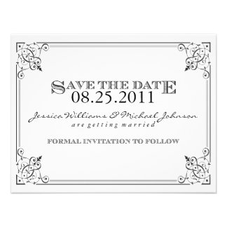 Steam Punk Save the Date Custom Announcements