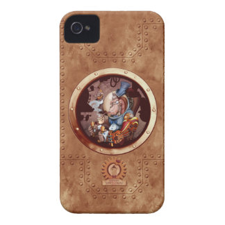 Steam Punk Space Chimp Porthole Case-Mate iPhone 4 Covers