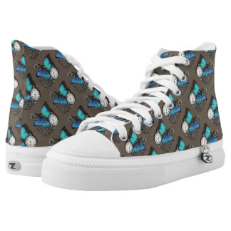 Steam Punk Themed Patterned High Tops