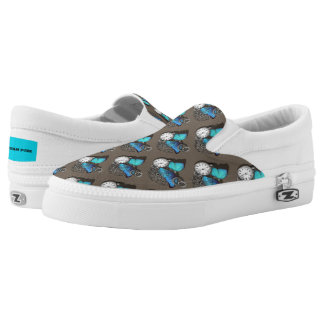 Steam Punk Themed Patterned Slip-On Shoes