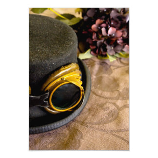 Steam Punk Top Hat with Goggles 9 Cm X 13 Cm Invitation Card