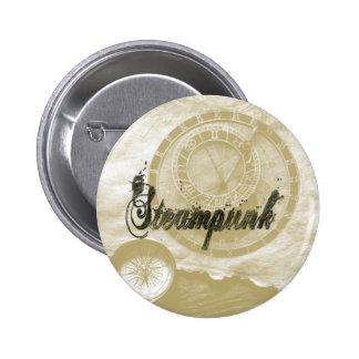 Steam punk vintage fashion art 6 cm round badge