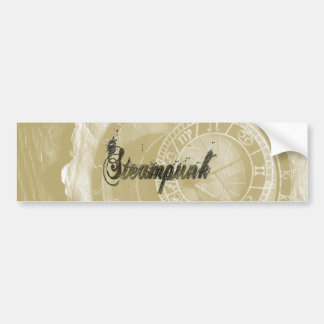 Steam punk vintage fashion art bumper sticker