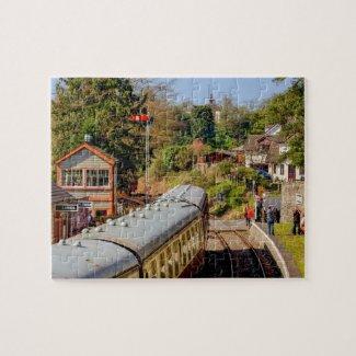 Steam Railway Station Jigsaw Puzzle