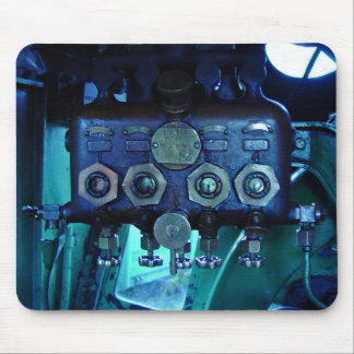 Steam regulator in locomotive mousepad