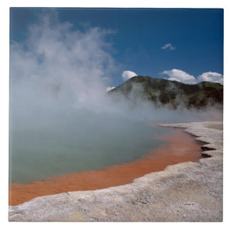 Steam rising from Champagne Pool at WAI-O-TAPU Tile