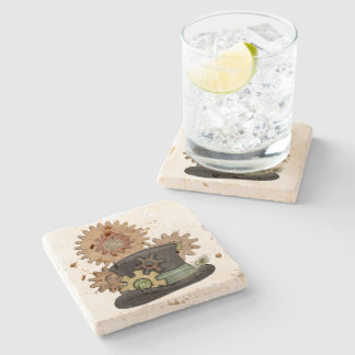 Steam Sass Steampunk Mixed Media Stone Coaster